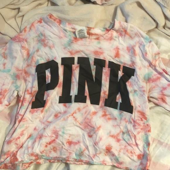 V.S PINK long sleeve top tie dye